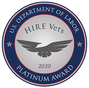 Platinum Award Hire Vets 2020