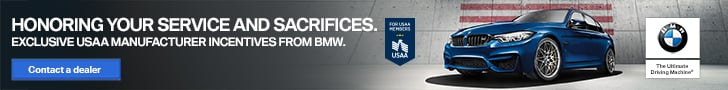 BMW Advertisement. Honoring Your Service and Sacrifices. Exclusive USAA Manufacturer Incentives from BMW.