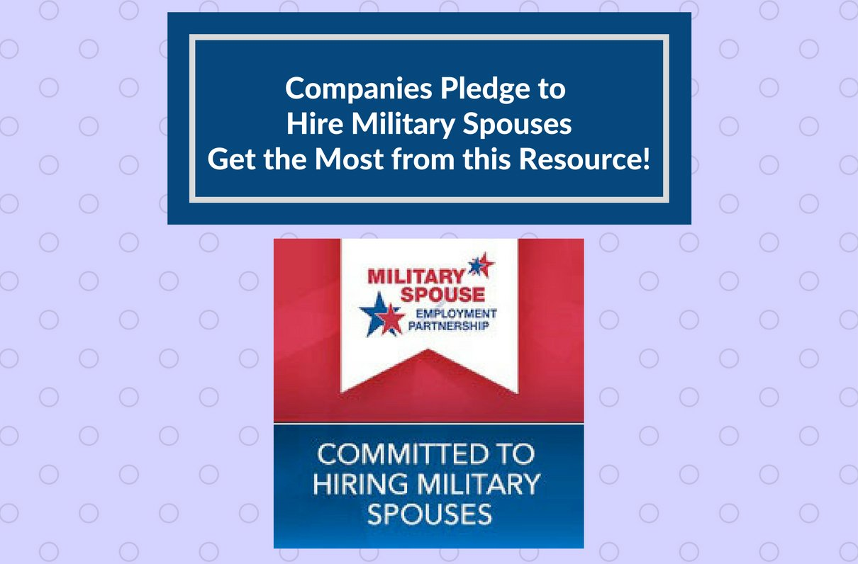 Companies Pledge to Hire Military Spouses