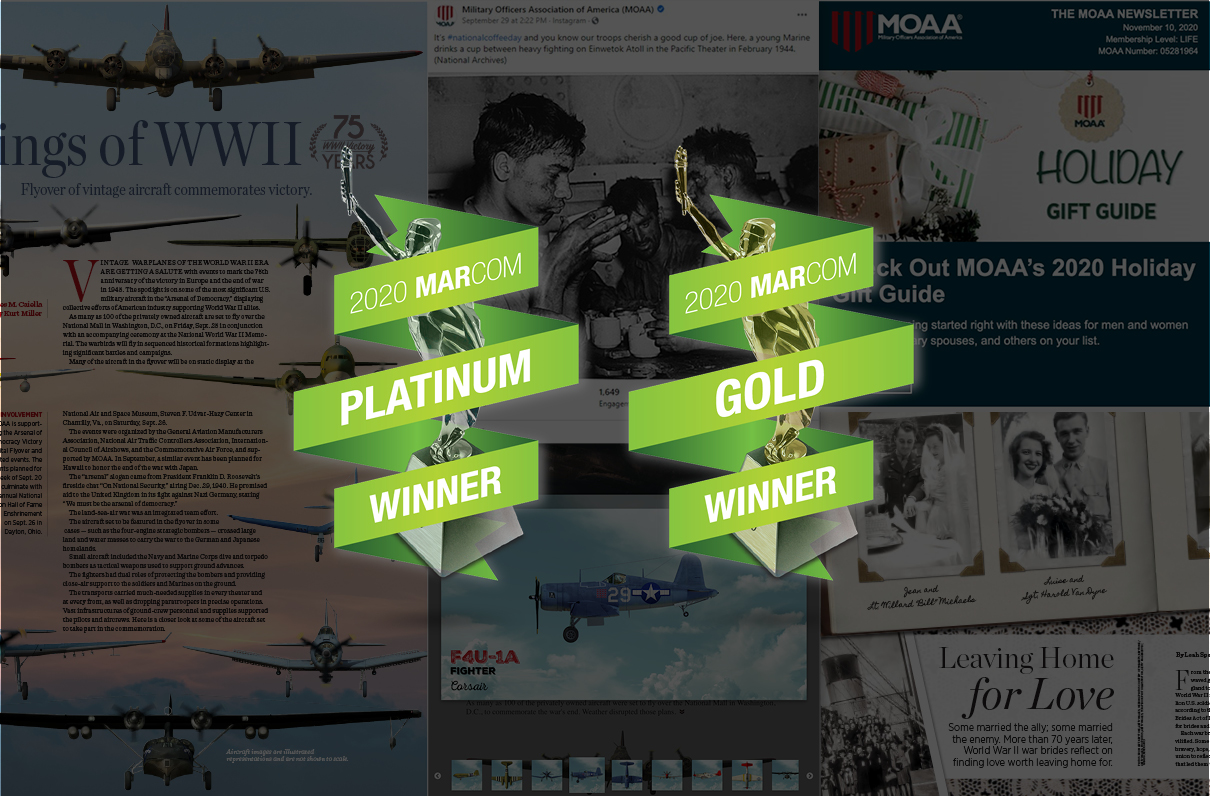 MOAA Wins International Honors for Magazine and Digital Communications