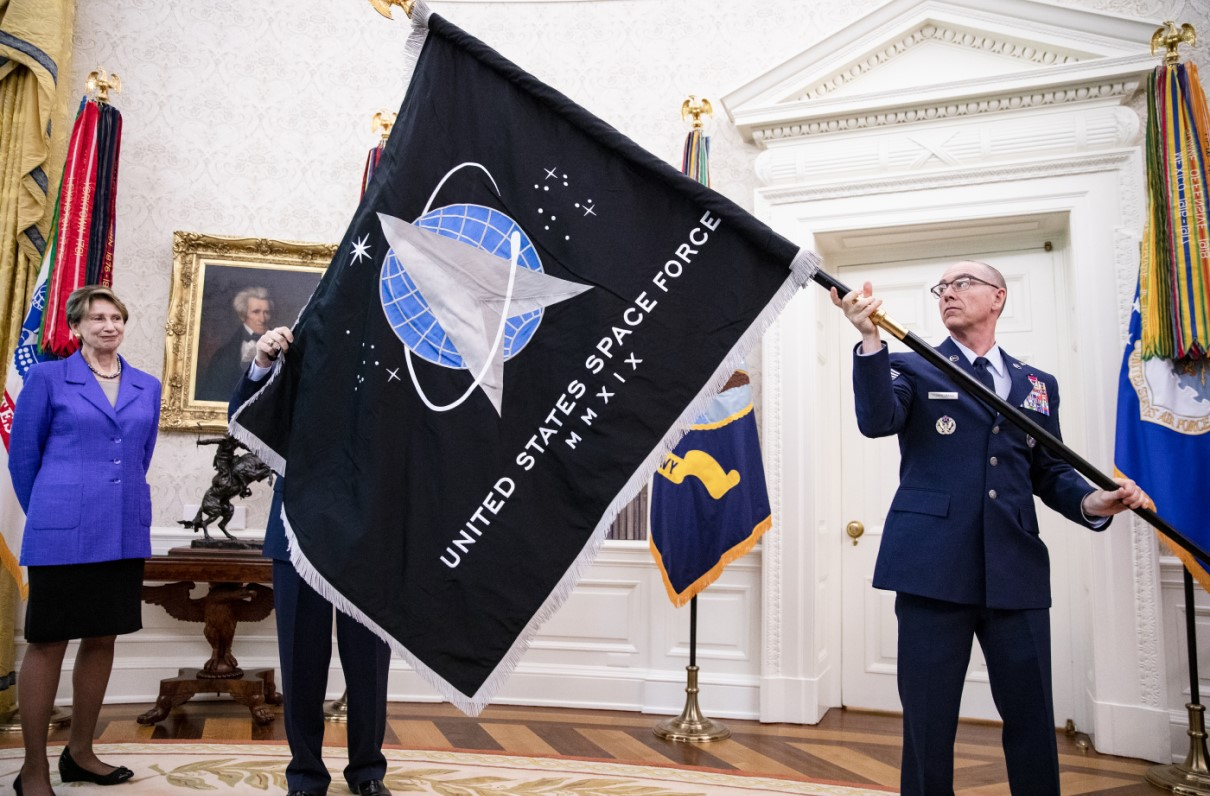 Official Space Force Flag Unveiled at the White House
