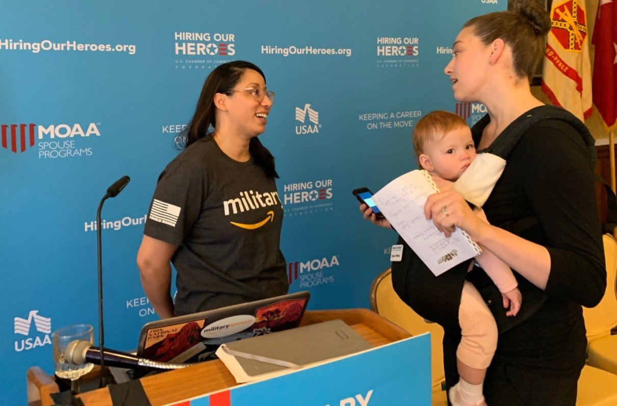 MOAA Events Help Military Spouses Keep a Career on the Move