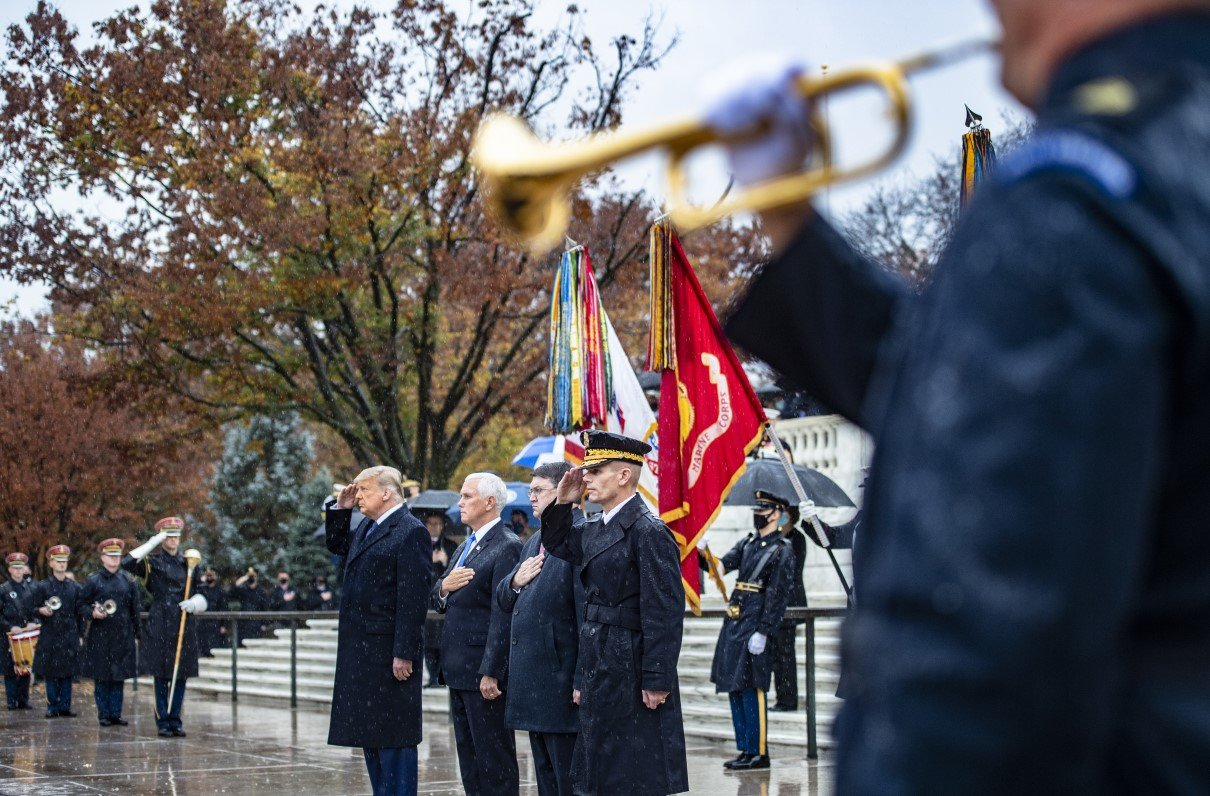 Scaled-Down Ceremony Honors Veterans at Arlington National Cemetery