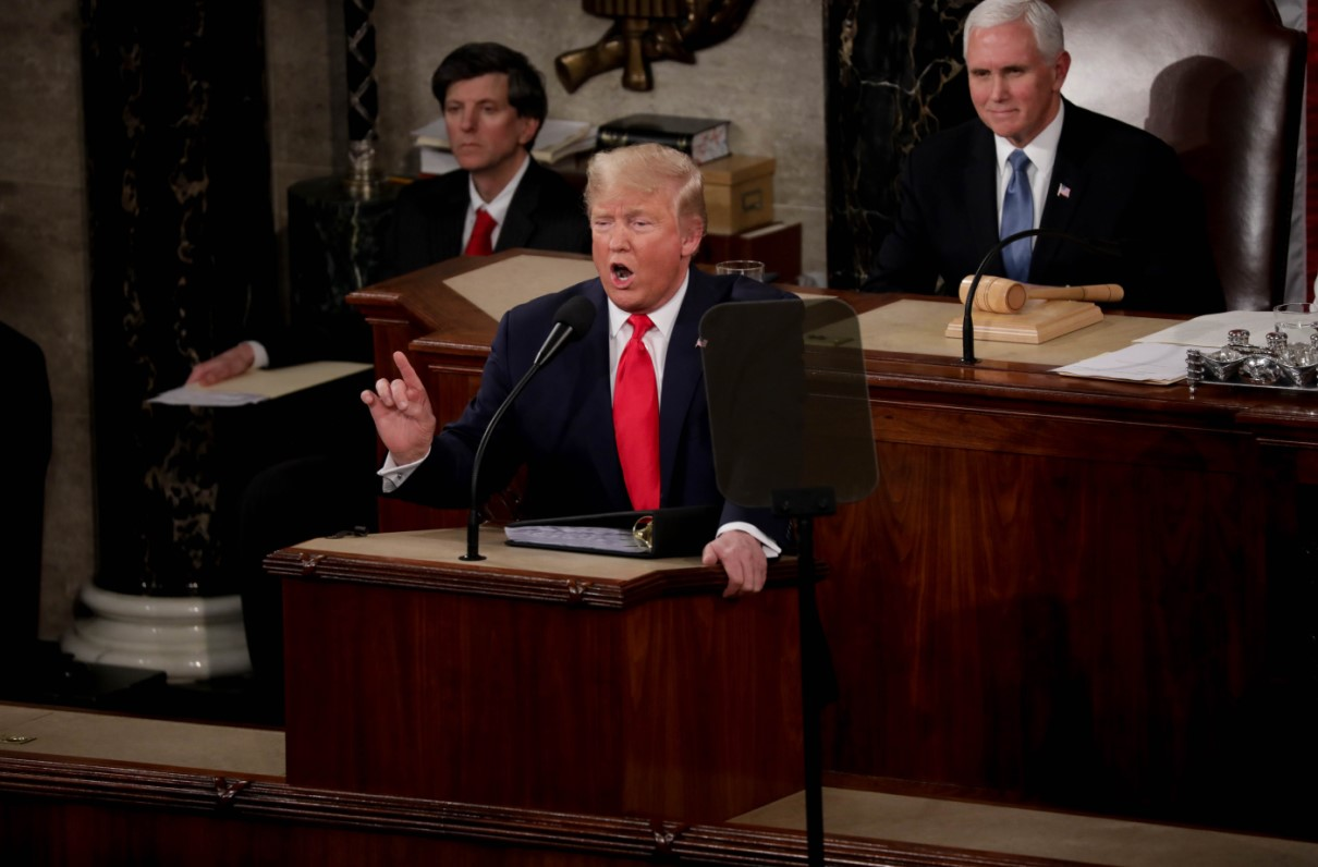 Trump Praises Military Buildup But Vows Overseas Troop Cuts in State of the Union Address